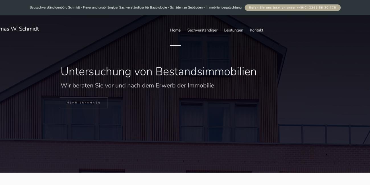 Slider Webseite Thomas Schmidt
