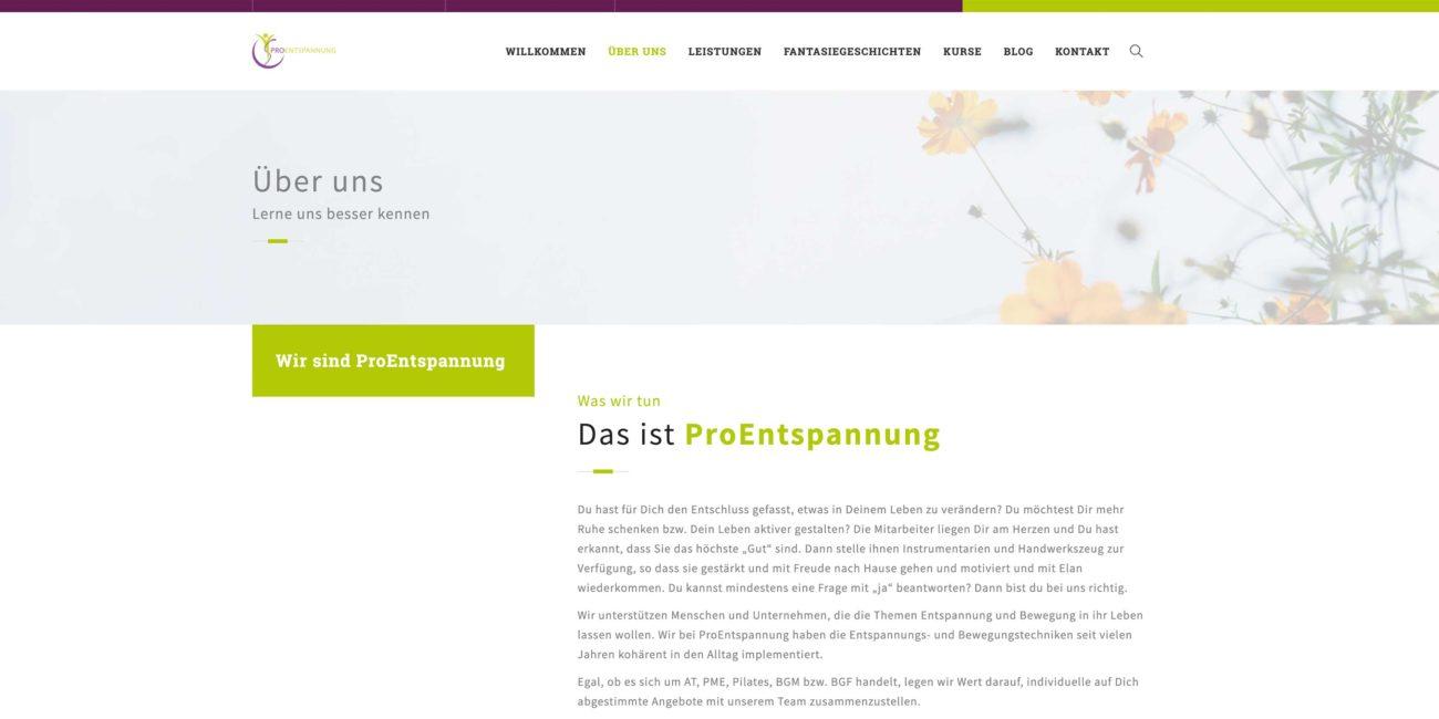 Website ProEntspannung