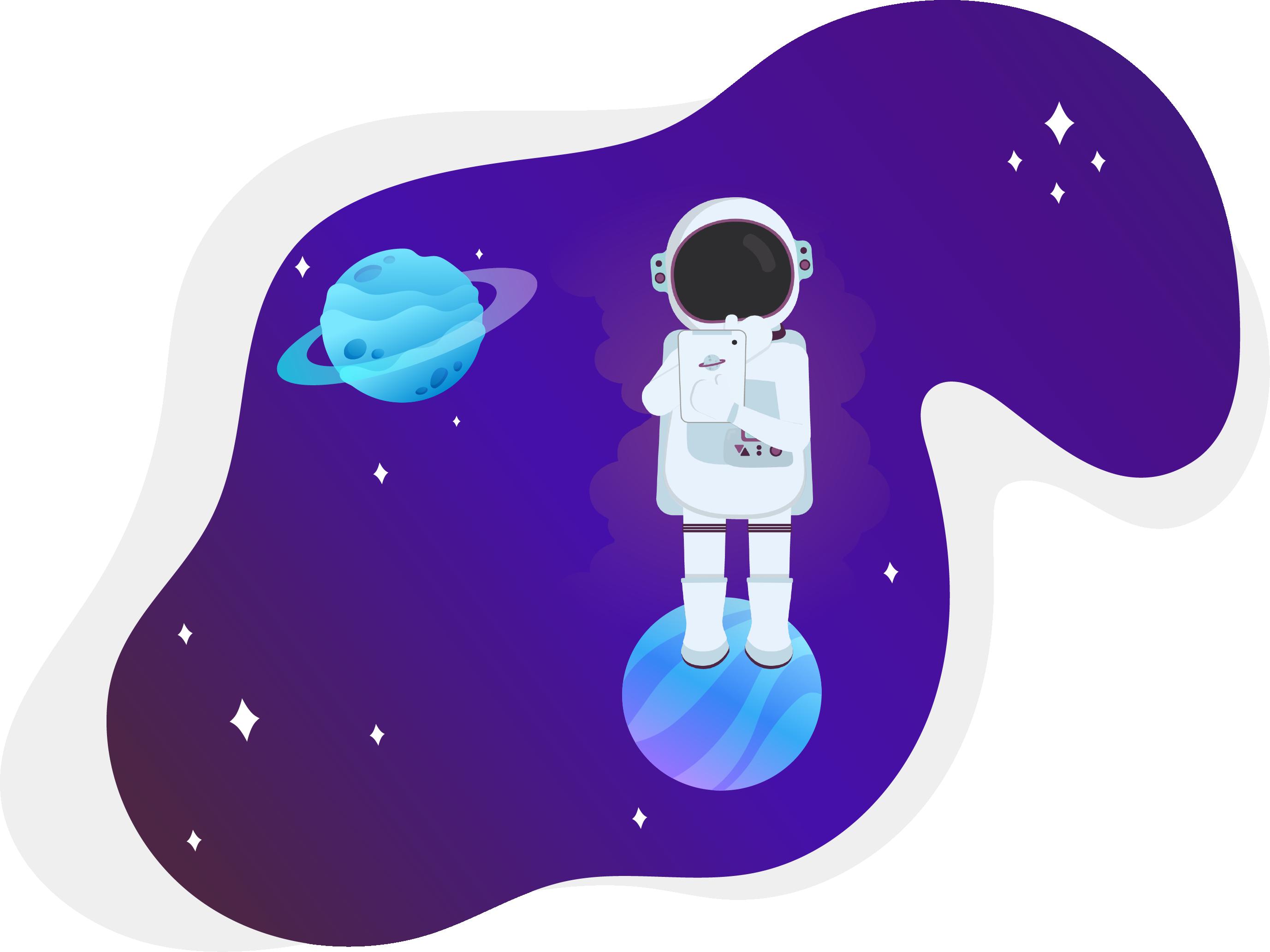 Sei ein kleiner Astronaut
